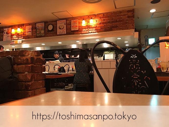 【池袋駅】サンシャインシティ・アルパ「バンビ」で激安!2,000円以下のステーキ食べられる!の店内
