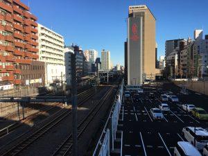 大塚駅の空蝉橋から見える景色