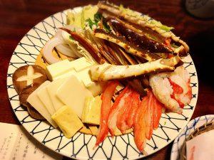 【新宿駅】はじめての「かに道楽」贅沢な蟹三昧大満足ううう!のかにしゃぶ会席冬景色のかにしゃぶ二種盛