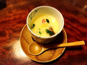 【新宿駅】はじめての「かに道楽」贅沢な蟹三昧大満足ううう!のかにしゃぶ会席冬景色のかに茶碗蒸し