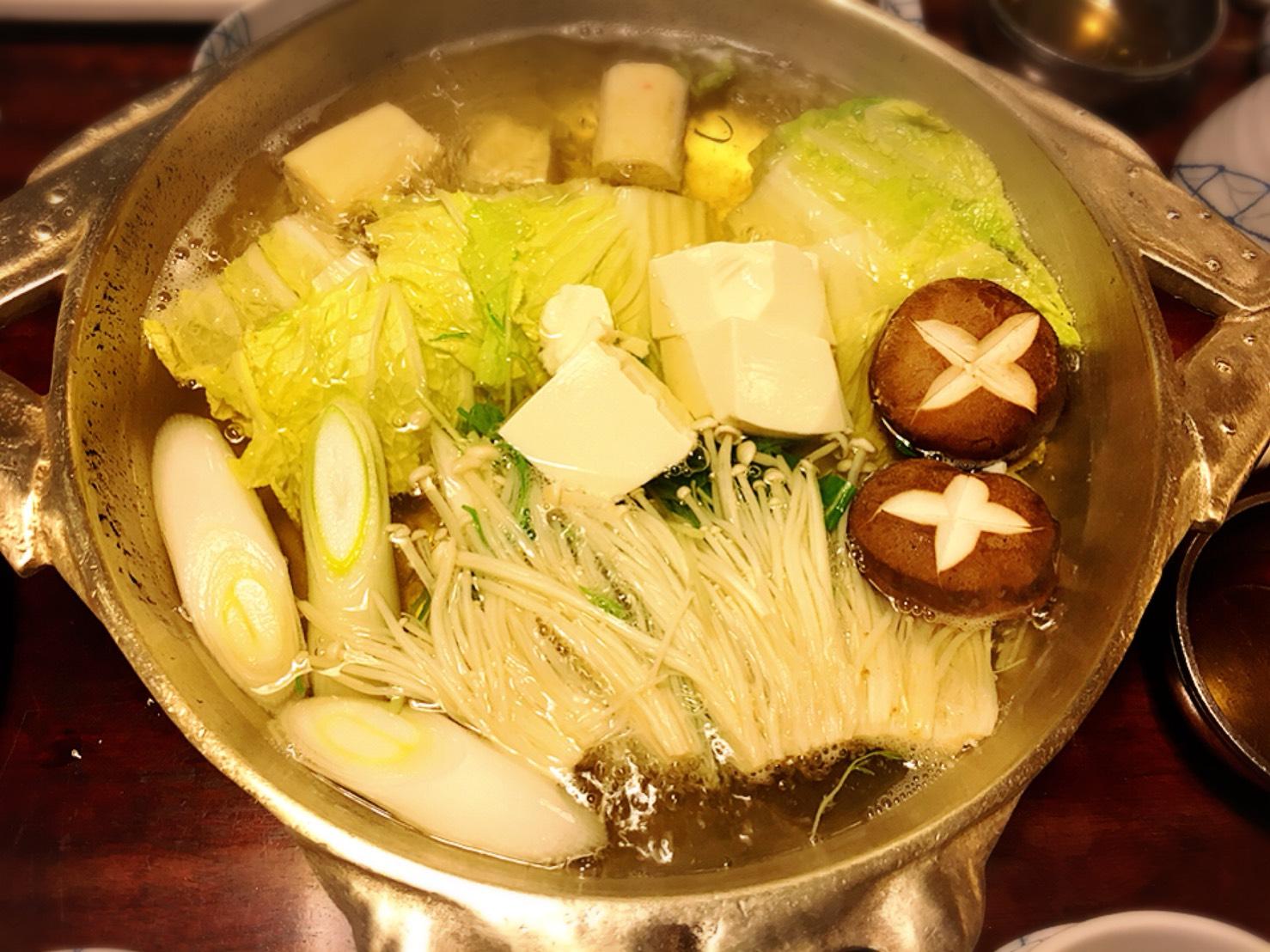 【新宿駅】贅の極み!蟹ざんまいで蟹に溺れる贅沢体験!豪華絢爛な「かに道楽」のかにしゃぶ会席冬景色のかにしゃぶ二種盛のお鍋