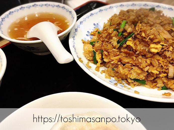 【池袋駅】餃子ファンがうなる特大激うま餃子とジャパン中華が安定の美味しさ!「開楽」の開楽セット