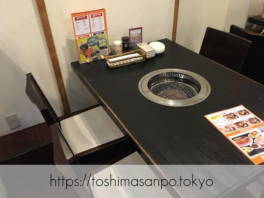 【池袋駅】うそでしょ?!1,000円で焼肉食べ放題できるなんて信じられない!「焼肉牛菜 池袋東口店」のテーブル席