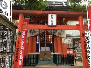 猫地帯の法明寺(ほうみょうじ)の武芳稲荷堂