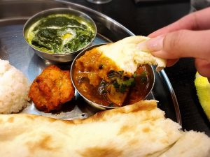 「こせり」の本格ネパール料理・インド料理の季節のカレー(マトン)