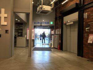 西武池袋本店の空中庭園へ出るロフト横の出入り口