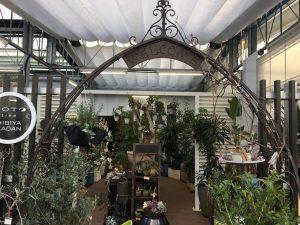 西武池袋本店の空中庭園のガーデニングショップ2