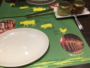 【池袋駅】月木サンバショー「GOCCHI BATTA」シュラスコのテーブル