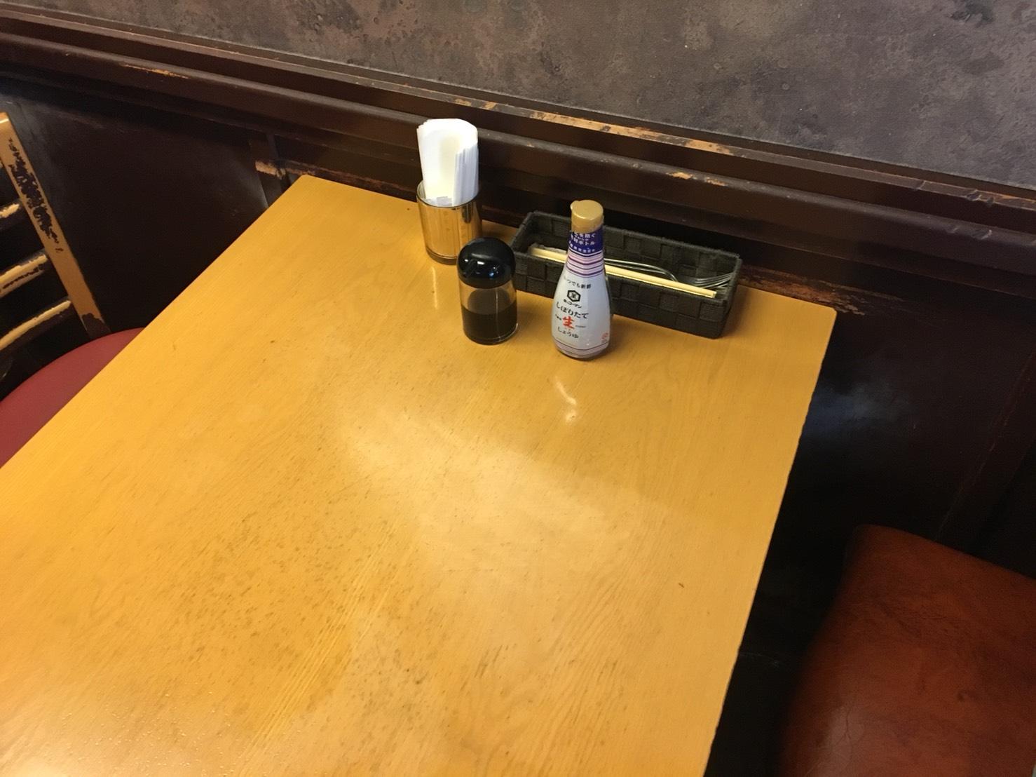 【池袋駅】絶品ハンバーグを求めて「UCHOUTEN(ウチョウテン)」のテーブル