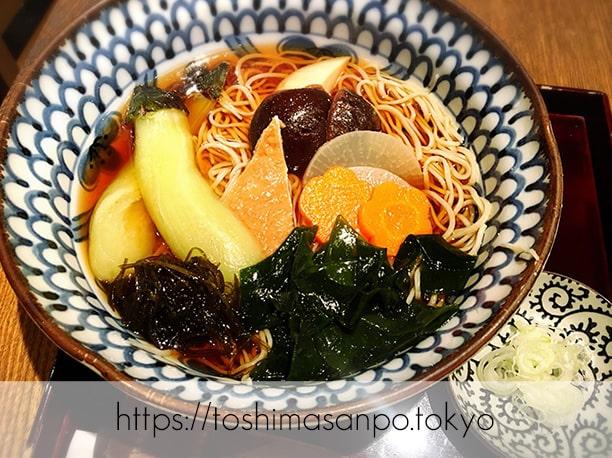 【池袋駅】いつも違う美味しいお蕎麦が楽しめる「宮城野」の涼菜