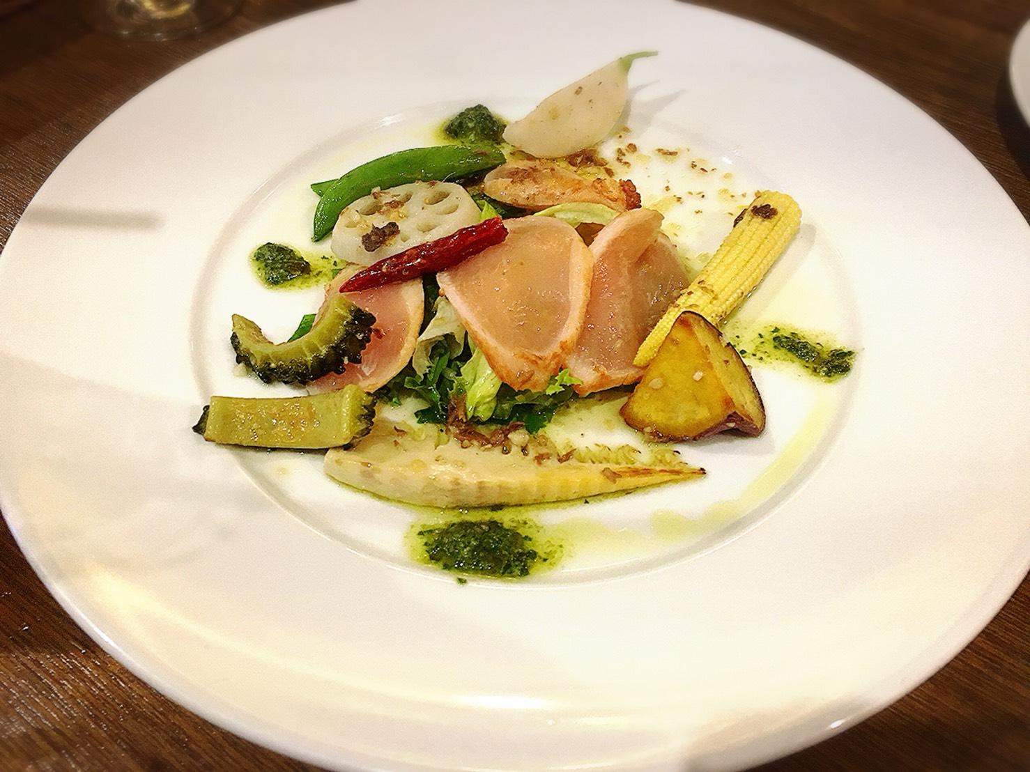 【池袋駅】おっとり系イタリアン「トラットリア・コン・アマーレ」の大山鶏と彩り野菜の温製
