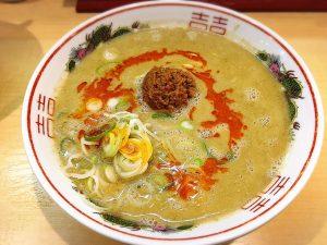 【池袋駅】えなにこれ?美味しい!本場博多では大人気。植物系スープ「博多拉担麺 まるたん 池袋店」