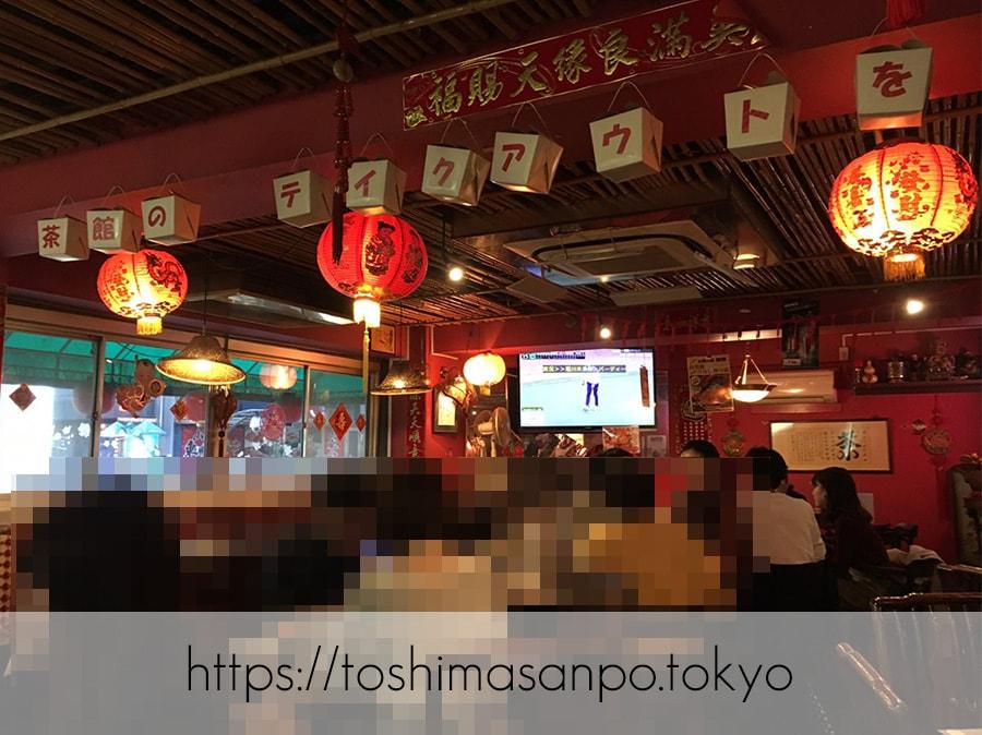【池袋駅】飲茶専門店で中国・台湾料理が食べ放題2500円「 中国茶館」の店内