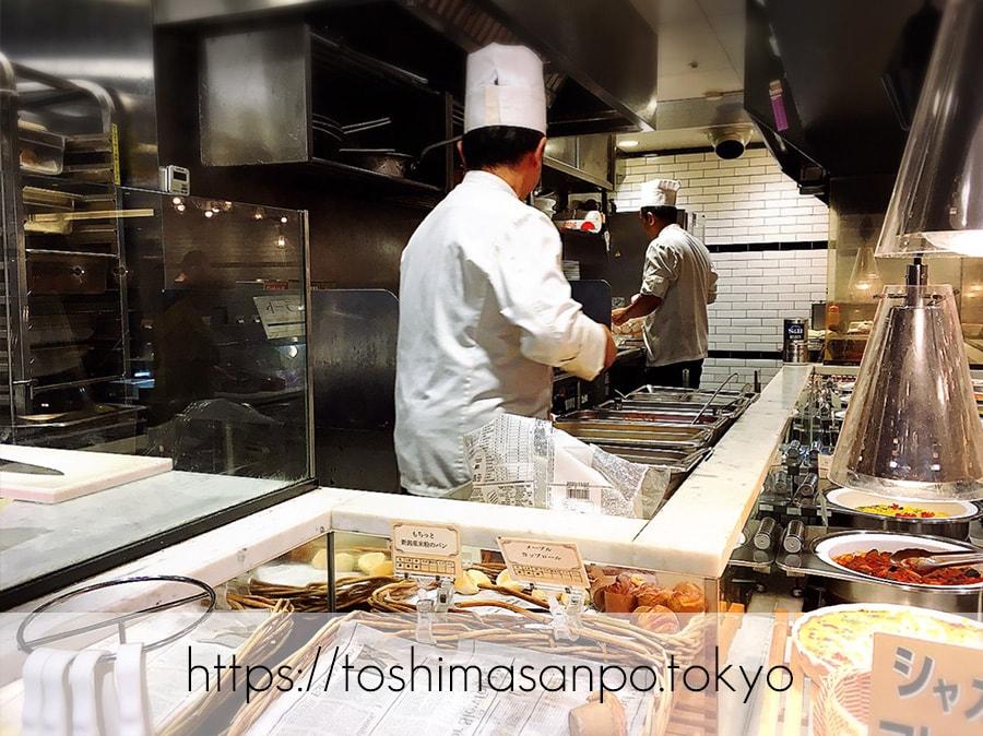 【池袋駅】一品注文制「CHEF'S GOODIES(シェフズグッディーズ)」の厨房