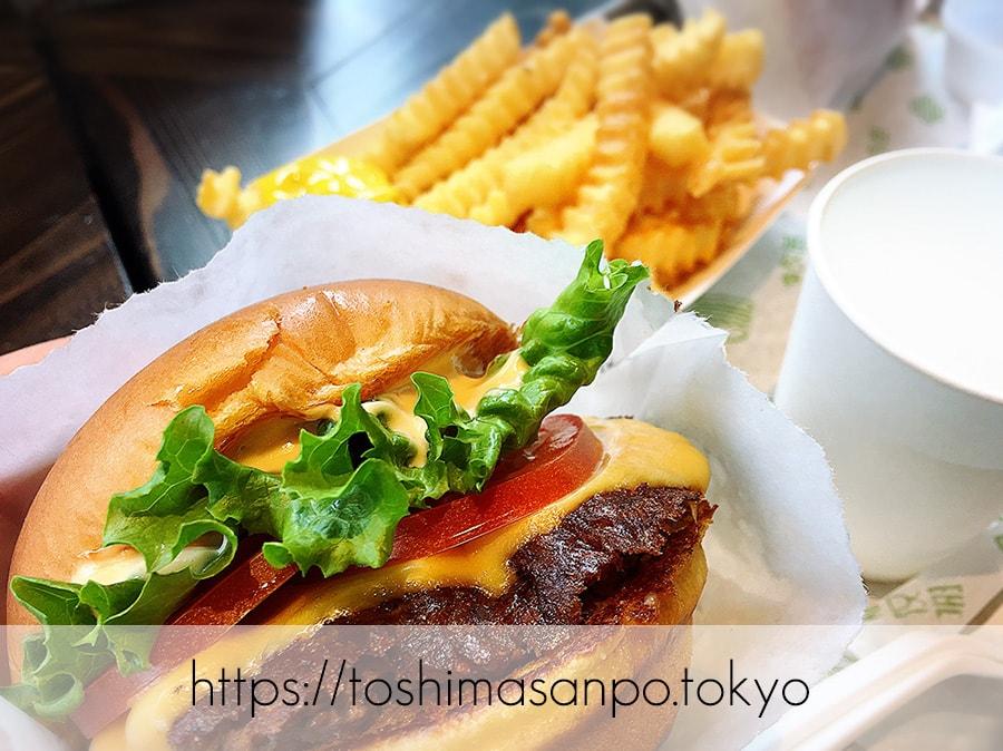 【新宿駅】豊島区へ出店熱望!NY発ハンバーガー「シェイクシャック」の追記1:シャックバーガー