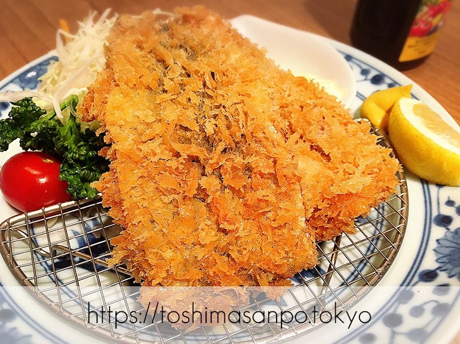 【池袋駅】高コスパ!ずっと人気爆発してる!超お得にお魚食べられる「東池袋魚金」のいわしフライ