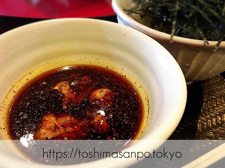 【池袋駅】なぜ蕎麦にラー油を入れるのか。理由はたぶん美味しいから。「壬生」の肉そば初めまして!の鶏そばのつゆ