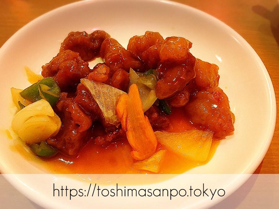 【大塚駅】超あったかな店主が迎えてくれるコスパ高めの台湾系な中華料理居酒屋「福文酒家」の酢豚