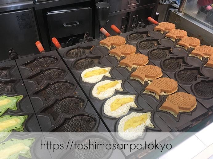 豊島区・池袋駅周辺:散策のお供にたい焼き食べよう〜!美味しいと有名な5店舗をご紹介。の味咲き池袋西武店の焼き機