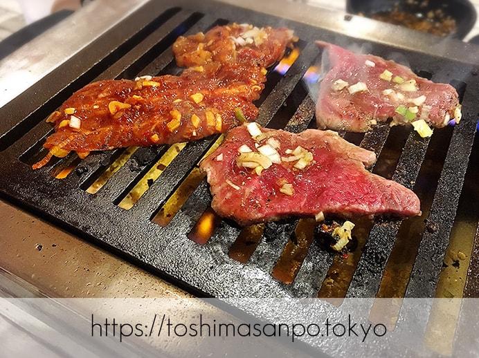 【大塚駅】独特な下味のお肉がなるほど美味しい!終戦のヤミ市から続く老舗焼肉「とらじ亭」の焼肉2
