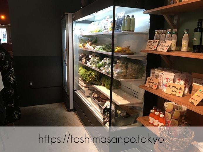 【池袋駅】庶民の味が超絶オシャレに。美味しすぎるポークジンジャー専門店「ジンジャー(Ginger)」の野菜販売1