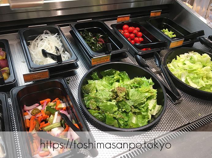 【大塚駅】新鮮野菜やデリサラダが最高。世界5ヶ国で愛されるビュッフェ「シズラー(Sizzler)」のサラダバー1